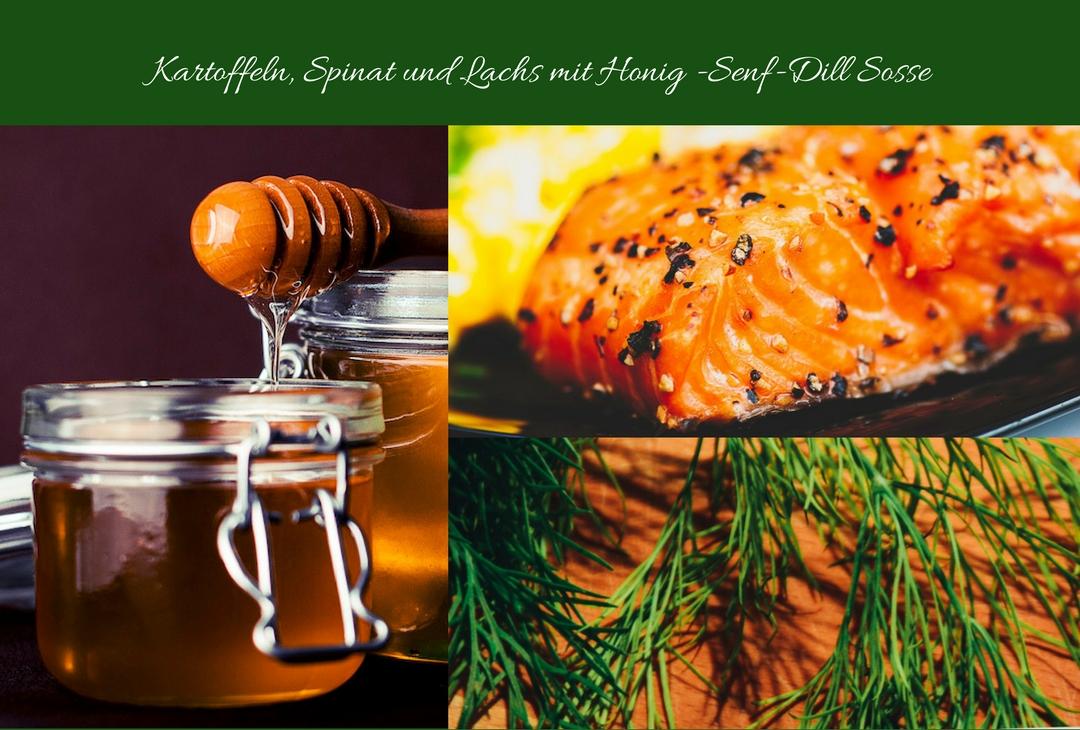 kartoffeln spinat lachs mit honig dill senf sosse. Black Bedroom Furniture Sets. Home Design Ideas