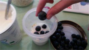 Obst im Jogurt, schnell und gesund