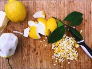 Zitronenschale